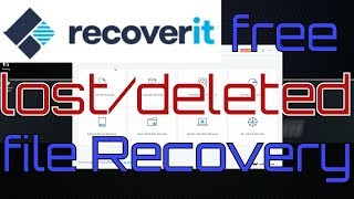 Recoverit free file / data recovery software