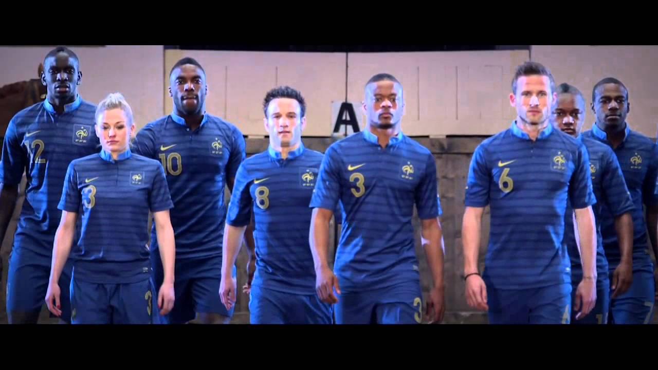 l 39 uniforme de l 39 quipe de france le nouveau maillot home 2012 2013 youtube