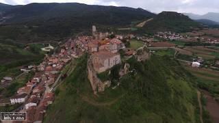 A vista de dron: Ciudad de Frías (Burgos)