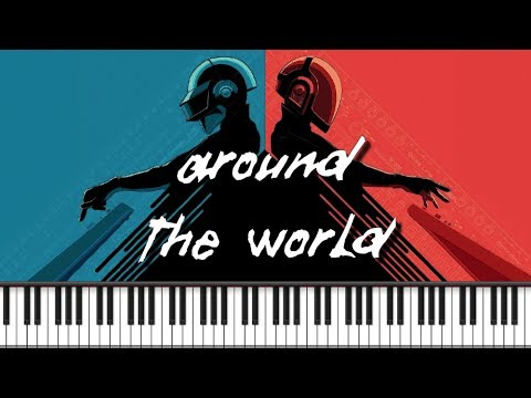 Synthesia [Piano Tutorial] Maxence cyrin - Around the World