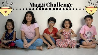 Maggi Noddle Eating Challenge | Indian kids Food Challenge | Fastest Maggi Eating Challenge
