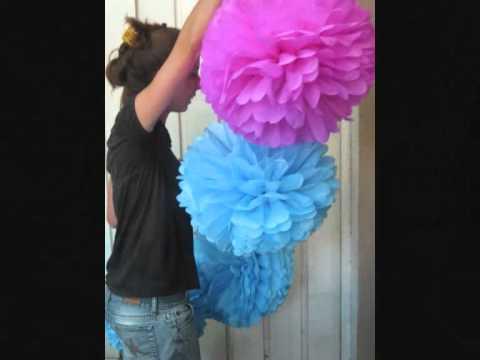 Pompones de papel by cecilia cumple 2 a os youtube - Como hacer pompones con lana ...