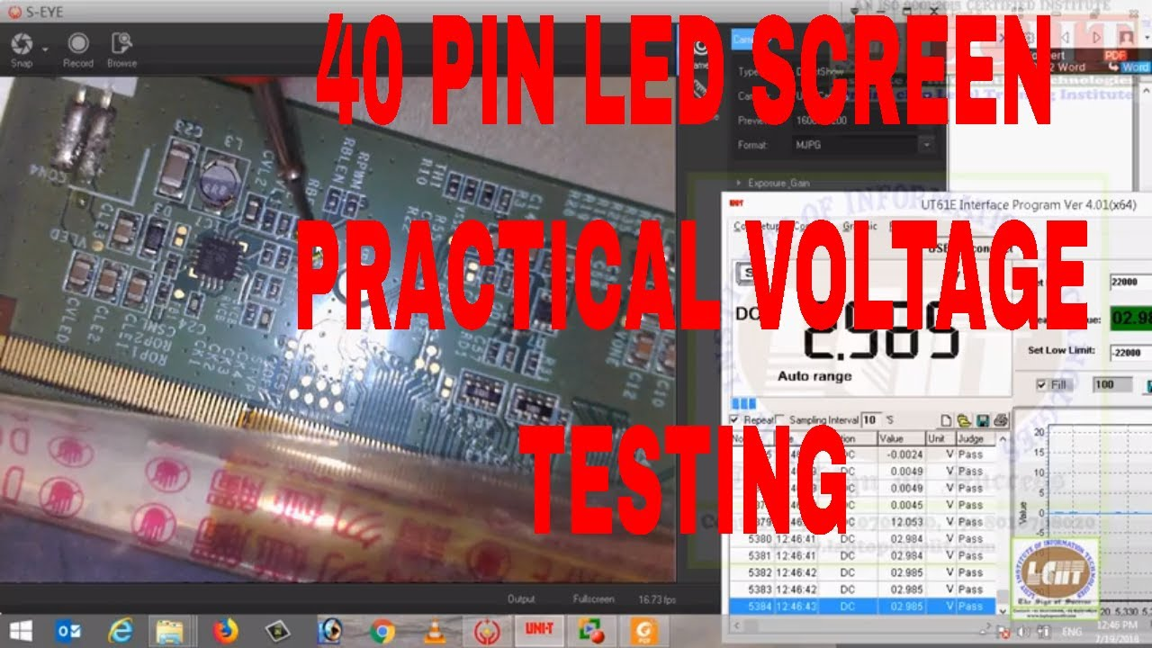 laptop 40 pin led screen circuit practical voltage testing by multimeter -  youtube  youtube