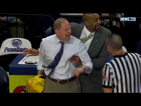 John Beilein Ejected at Penn State | Michigan | Big Ten Basketball