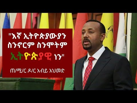 Ethiopia: Prime Minster Dr Abiy Ahmed's Acceptance Speech