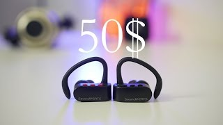 TRULY WIRELESS EARPHONES FOR 50$ | Soundpeats Q16 Bluetooth Headphones Review