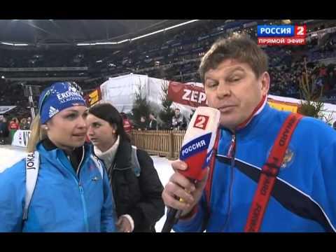Магдалена Нойнер Интервью после гонки29 12 2012