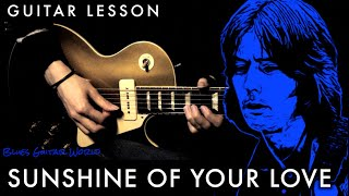 """How to play - Eric Clapton (Cream) """"Sunshine Of Your Love"""" Guitar Solo - Part.2 