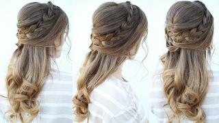 Romantic Half up Hairstyle Idea   Romantic Hairstyles   Braidsandstyles12