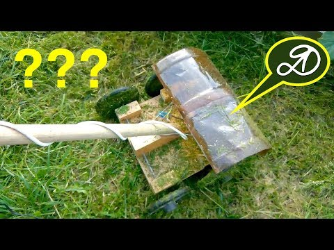 Как сделать газонокосилку своими руками. Триммер на колёсах