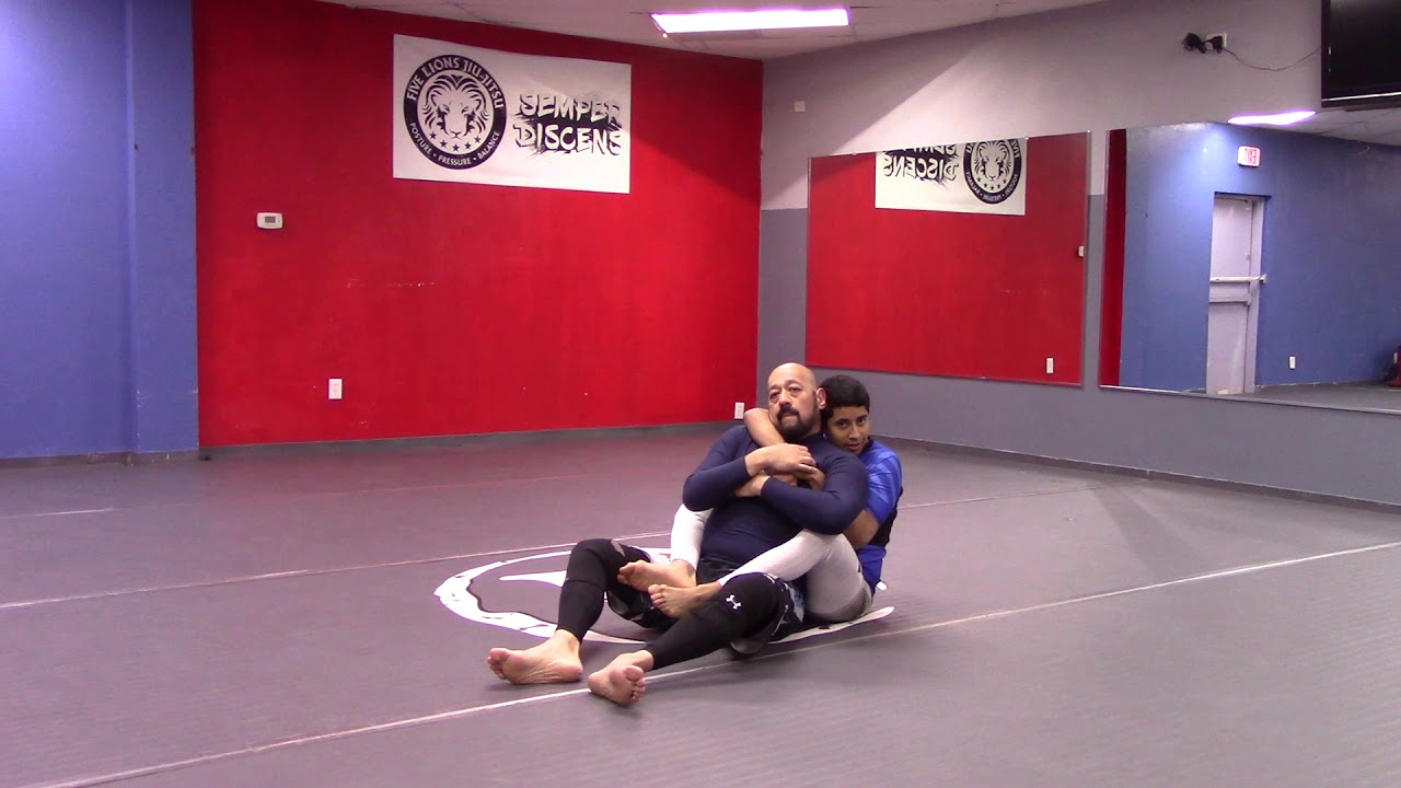Hand Fighting your way to the rear naked choke (1 of 4