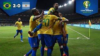Brasil avanza a la Final | Brasil 2 - 0 Argentina | Copa América Semifinal | Televisa Deportes