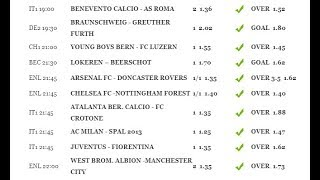 predictions on all the matches for Today. betnumbers