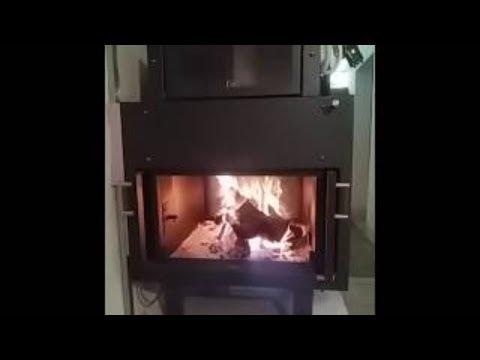 Termocamino bifacciale con forno con accensione dall 39 alto for Ftl termocamini