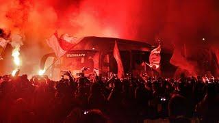 Recibimiento Sevilla FC - Atlético   Cuartos de final Copa del Rey [HD]