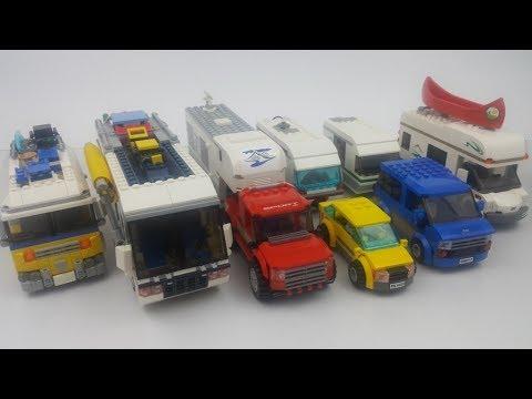 Lego City 4435 Samochód Z Przyczepą Kempingową Youtube