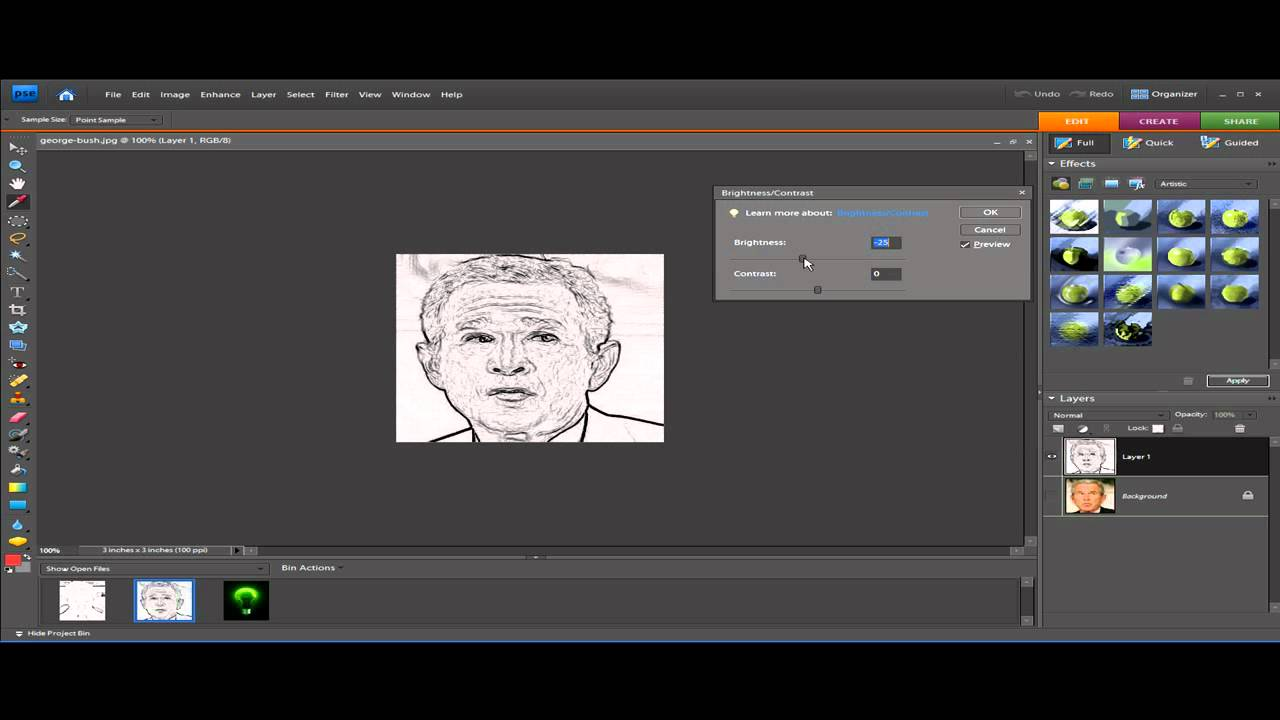 Drawing Lines In Photo Elements : Tutorial photo to line drawing in adobe photoshop
