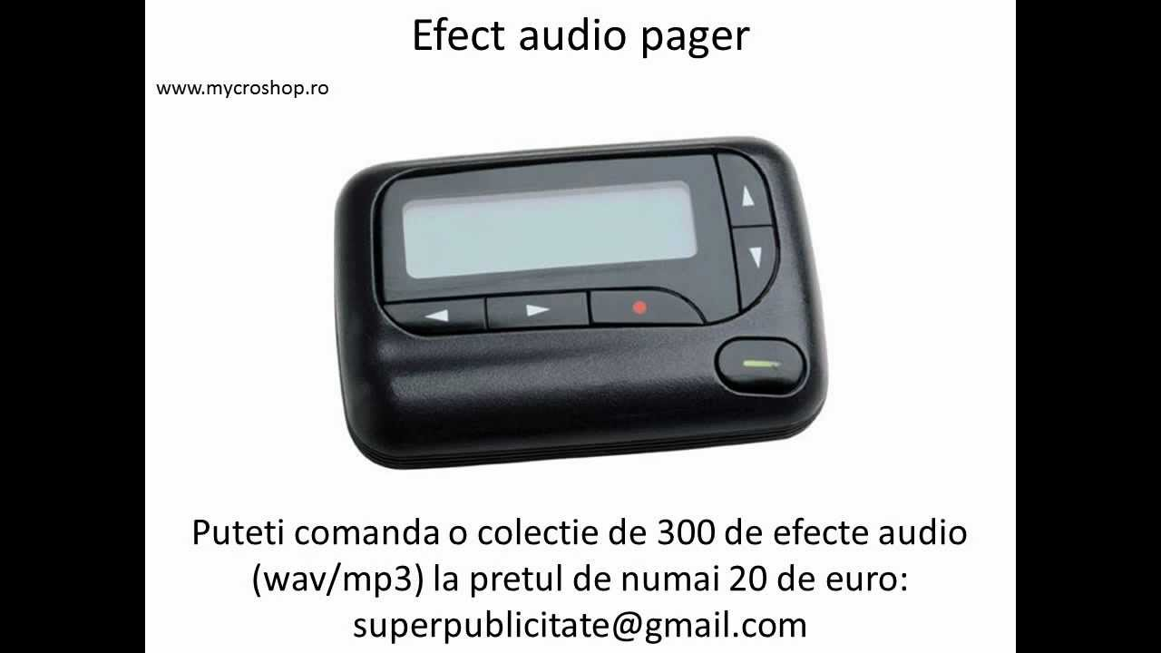 Efect Audio Pager Youtube Beeper Sound