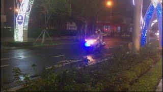 Honda ST1300cc của CSGT Đà Nẵng dẫn đoàn Thủ tướng Nguyễn Xuân Phúc trong đêm mưa