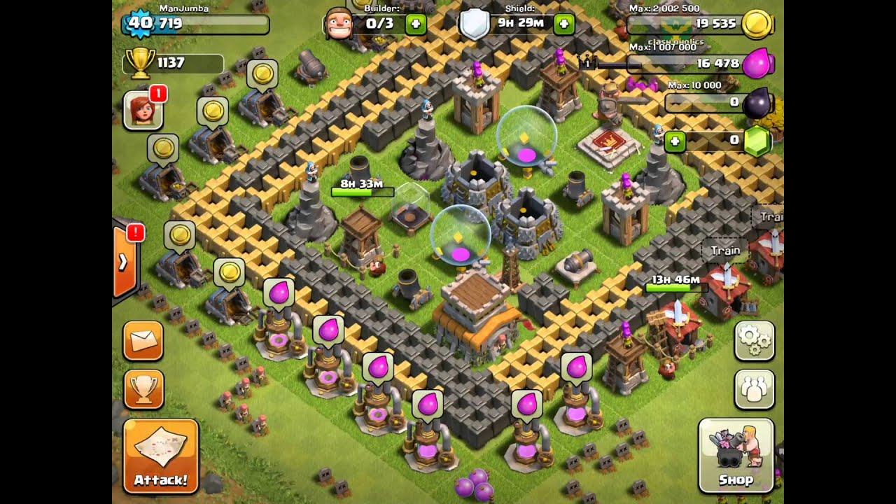 Clash Of Clans town hall 8 best defence/farming setup - YouTube