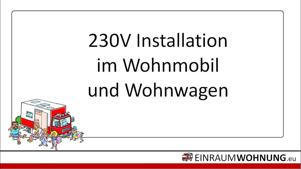 8V Installation im Wohnmobil und Wohnwagen / Inverter-Verteilung