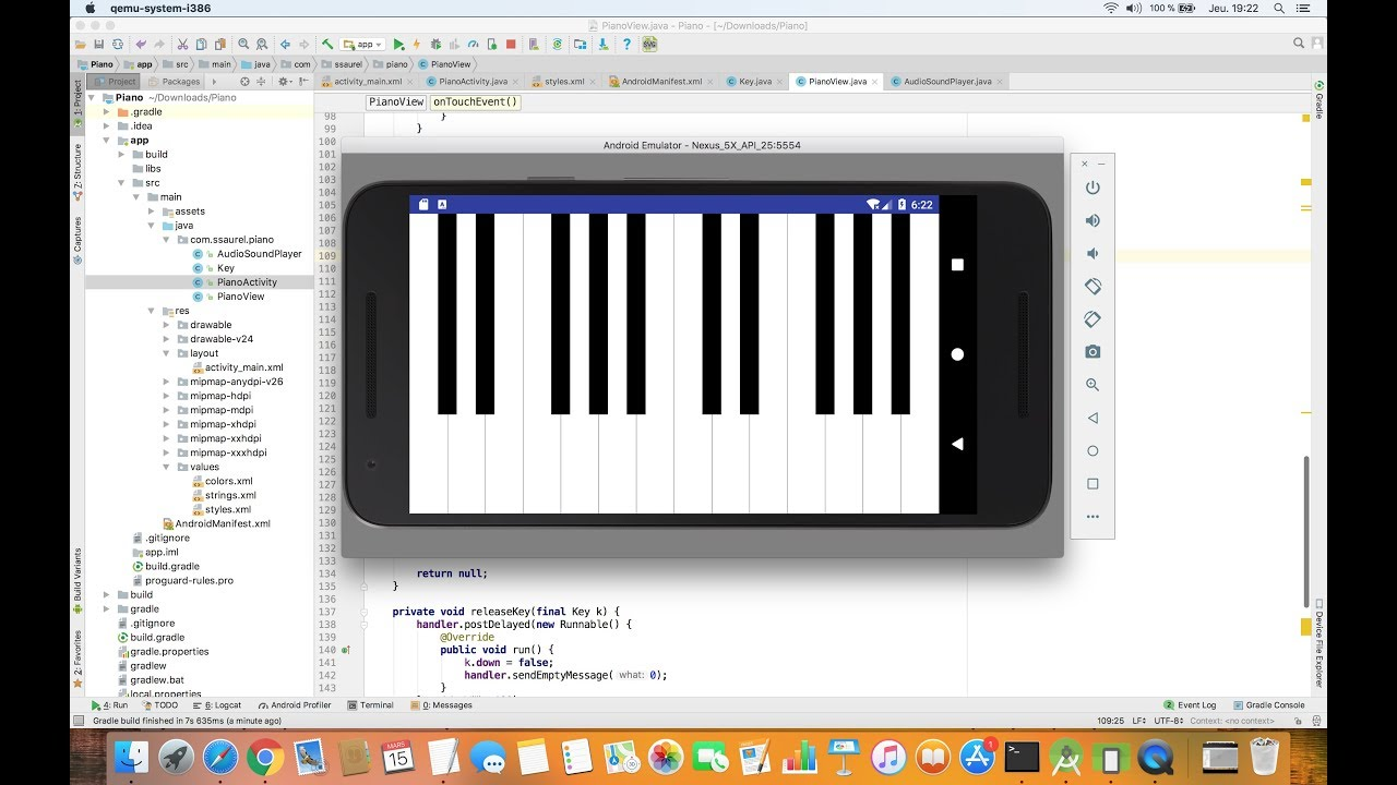 Creating a Virtual Piano Application for Android - Sylvain