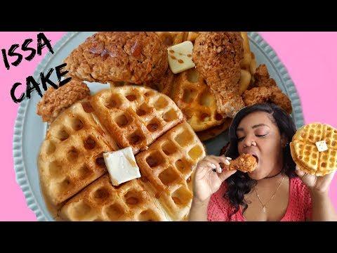 realistic-chicken-'n-waffles-cake-|-marisha's-couture