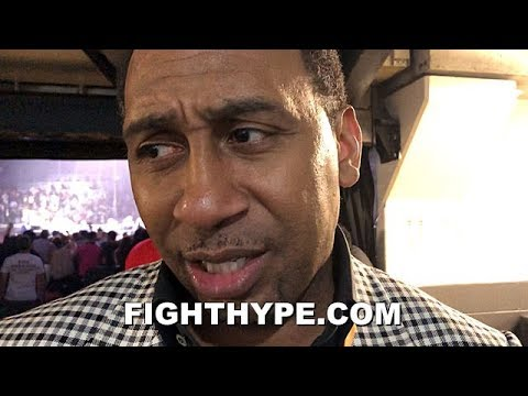 STEPHEN A. SMITH REACTS TO WILDER KNOCKING OUT BREAZEALE; ADMITS NOT A FAN OF TYSON FURY