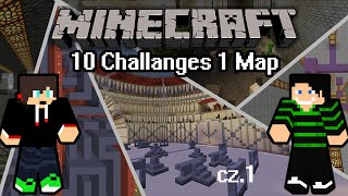 Minecraft: Parkour/Puzzle Remastered 10 Challenges in 1 Map [cz.1] w/ Dyzio