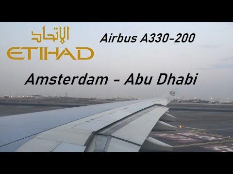 ✈️ FLIGHT REPORT ✈️ Etihad Airways - Amsterdam to Abu Dhabi - Airbus A330-200