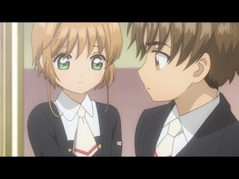 Sakura attacks Akiho and Syaoran, it was super effective! (Cardcaptor Sakura Clear Card)