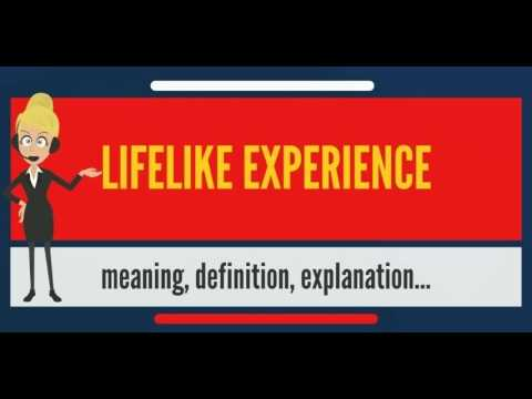 What is LIFELIKE EXPERIENCE? What does LIFELIKE EXPERIENCE mean? LIFELIKE EXPERIENCE meaning