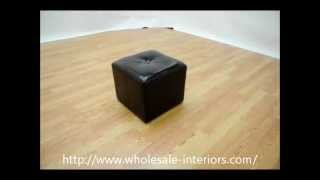 Wholesale Interiors Aric Bonded Leather Ottoman