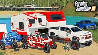 MEMORIAL DAY CAMPING AT THE LAKE! FORD RAPTOR 6x6, RZR & MORE | FARMING SIMULATOR 2019