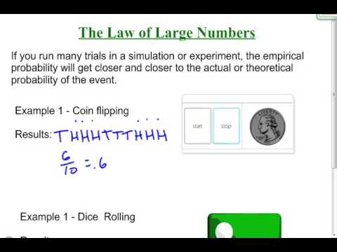 The law of large numbers youtube.