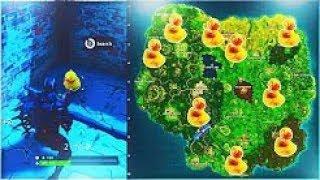 Como Encontrar Patos de Goma en Fortnite ¡ UBICACIÓN de TODOS los PATOS de GOMA !