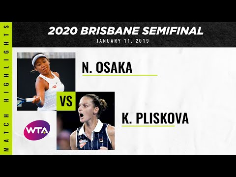 Naomi Osaka vs. Karolina Pliskova | 2020 Brisbane International Semifinal | WTA Highlights