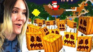 JOULU tuli mun maahan... ja 1,000 LUMIUKKOA! Pelataan Minecraft #49