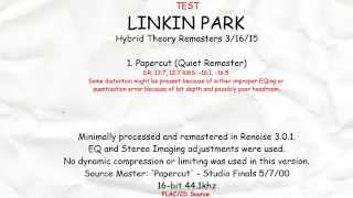 Linkin Park - Papercut (High Dynamic Range Remaster)