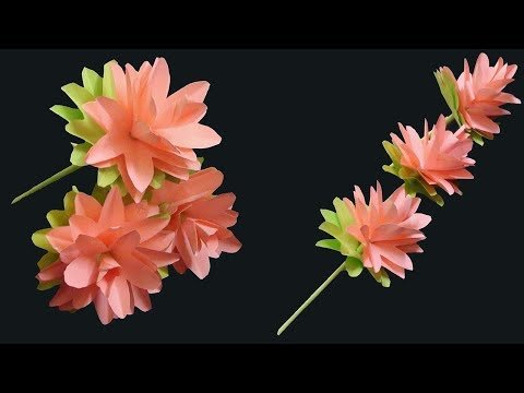 How to Make Paper Flowers | DIY Easy Simple & Beautiful Paper Crafts