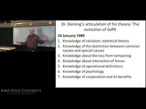 "The Evolution of Deming's ""System of Profound Knowledge"""