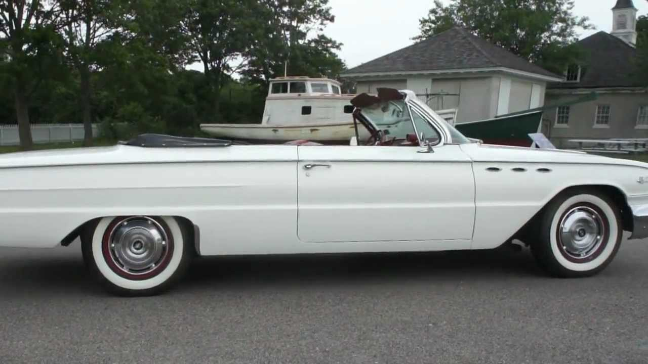 sold 1961 buick le sabre convertible for sale white red power windows top brakes steering youtube [ 1280 x 720 Pixel ]