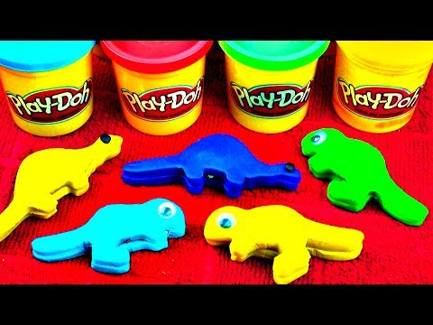Play Doh Dinosaur Egg Surprise Toys Superman Minnie Mouse Clubhouse Disney Cars Spiderman FluffyJet