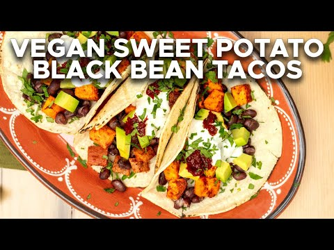 Sweet Potato and Black Bean Tacos | Easy Vegan Weeknight Dinner