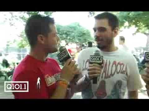 Ryan and Kevin Manno interview DJ A.M. at Lollapalooza