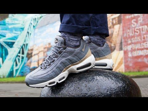 Nike Air Max 95 Premium Wool Sequoia On Foot