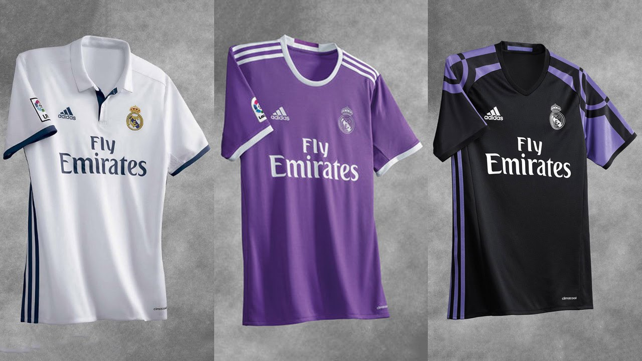 adidas Real Madrid Official Kit 2016-2017 - YouTube 72459e37d