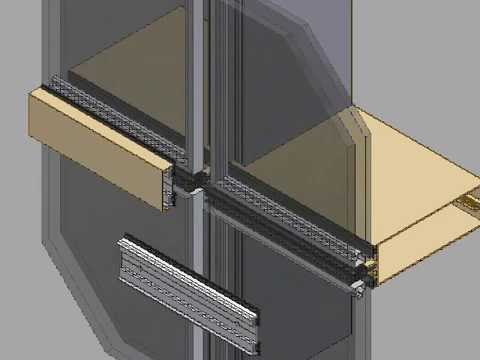 Curtain wall components installation