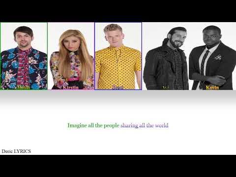 Pentatonix - Imagine (Color Coded Lyrics)