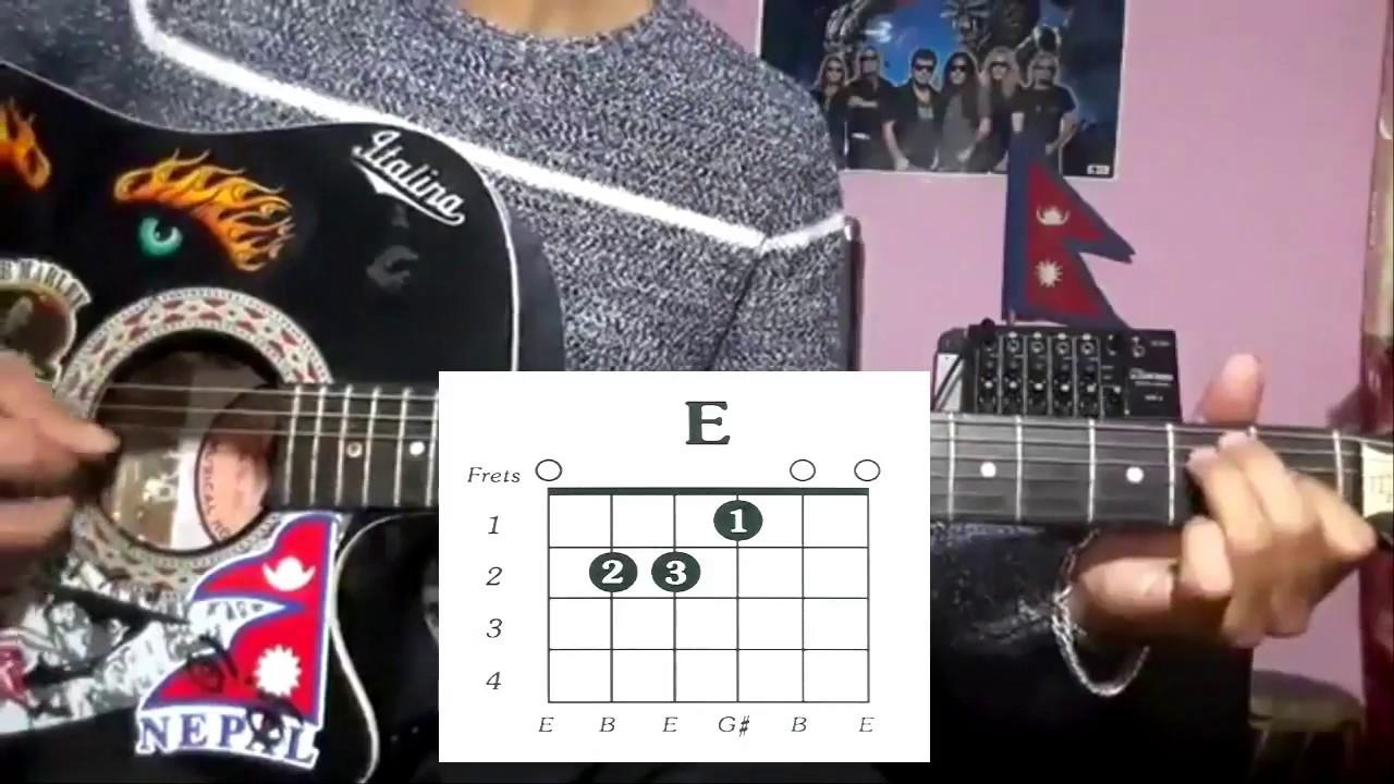 Tihar Session Guitar Lesson Deeksha Nattu Neetesh Swoopna Ft
